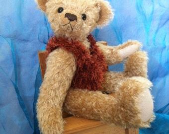 Collectors Bear, OOAK Bear, One of a Kind Bear, Artist Bear, Collectable Bear, Tulip Bear, Mohair Bear, Traditional Bear, Collectable Teddy