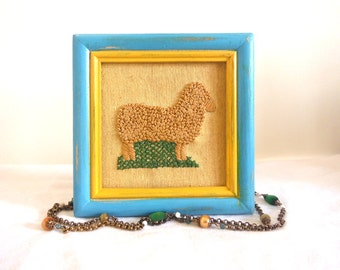 4 12 x 4 12 picture framefarm animal artdistressed picture frameblue picture framesquare picture frameblue and yellow picture frame