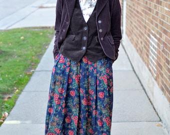 Vintage Dark Brown Corduroy Vest (Medium-Large)