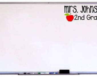Name and Grade Decal for Classroom, Whiteboard Decal, Classroom Decor, Classroom Org, Classroom Art, Classroom Sign