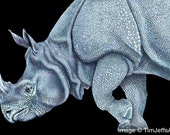 Indian Rhinoceros Colored Pencil Drawing