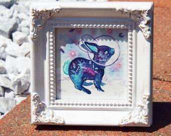 Space Bunny Original Painting