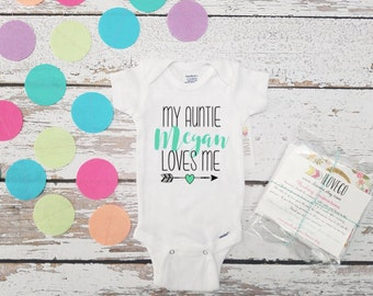 Custom / My Auntie Loves Me  / My Aunt Loves me / Aunt Bodysuit / Auntie Bodysuit