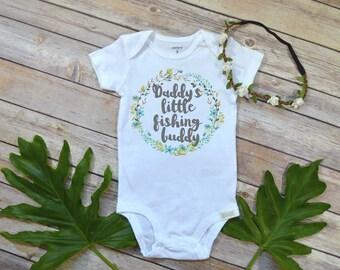 Daddy's Fishing Buddy, Country Baby Girl, Fishing Baby Shirt, Baby Shower Gift, Fishing shirt, Fishing bodysuit, Baby Fishing tee