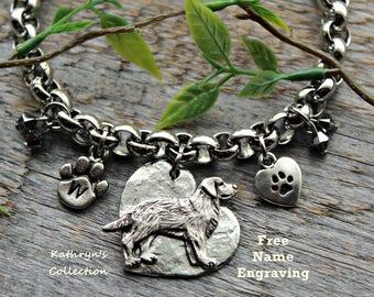 Labrador Retriever Bracelet, Lab Bracelet, Lab Mom, Lab Jewelry, Dog Bracelet, Free Name Engraving, Read Full Listing Details