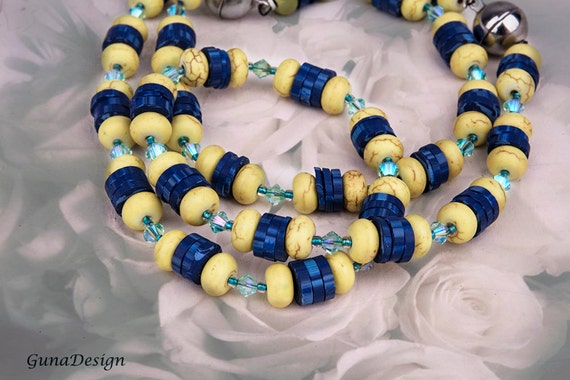 Yellow Turquoise Necklace and Bracelet