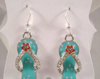 Flip Flop Earrings Beach Ocean Summer Sandal Jewelry