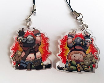 Overwatch: Roadhog/Junkrat Double-Sided Charm