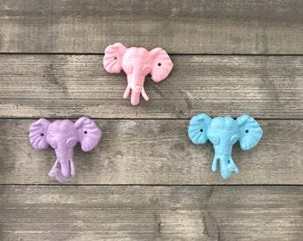 Elephant Hook - Animal Hook - Nursery Decor - Bedroom Decor - Wall Hooks