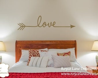 Love Arrow Bedroom Wall Decal