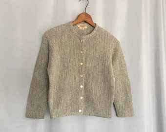 Gray Cardigan Sweater Vintage size XS or Small