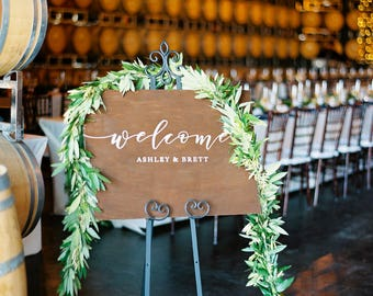 Custom Wedding Welcome Sign - welcome to our beginning