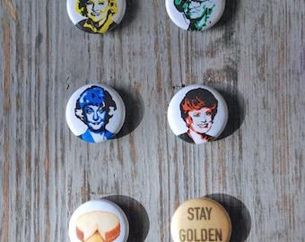 Golden Girls 1 Inch Magnets Set of 6 Dorothy, Rose, Blanche & Sophia