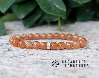 Hessonite Garnet Bracelet -January Birthstone Bracelet, Hessonite Garnet Jewelry, Cinnamon Orange Jewelry Orange Bracelet