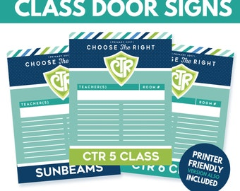 2017 LDS Primary Door Signs - Choose the Right