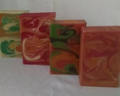 Sweet & Fruity Limited Edition Goat's Milk Soap-Mango-Papaya, Sangria, Grapefruit-Lime, And Ginger-Peach