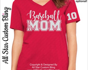 Baseball Mom Shirt, Baseball Mom Shirt, Mom Baseball Shirt, Custom Baseball Shirt, Baseball Mom Tee, Baseball Team Shirt