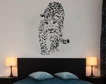 Cheetah Wall Decals Sticker Animal Leopard Decal Vinyl Bedroom Nursery Home Decor Art Mural Ms298