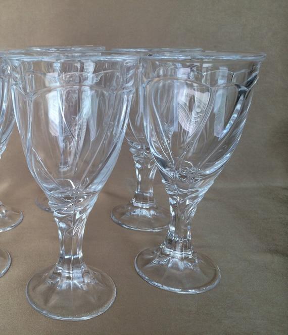 noritake sweet swirl clear wine glasses vintage barware
