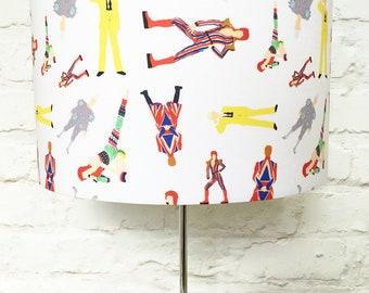 David Bowie lampshade - 15cm 20cm 25cm 30cm  - Bowie lampshade - Ziggy lampshade -  present for David Bowie fan - David Bowie home