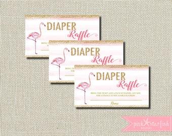 Flamingo Baby Shower Diaper Raffle, Flamingo Baby Shower Diaper Insert, Baby Shower, Diaper Raffle Insert, Flamingo Baby Shower, Pink
