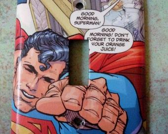 superman light switchplate
