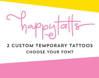 custom temporary tattoos choose your font personalized tattoo fake tattoos custom valentines day gift customized tattoo design name or quote