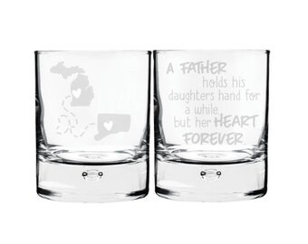 A Father Holds His Daughters Hand For A While But Her Heart Forever Bourbon Glass