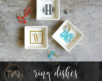 Engagement Ring Dish - Jewelry Dish - Bride Engagement Gifts for Her - Bride to Be Gift - Bride Gift