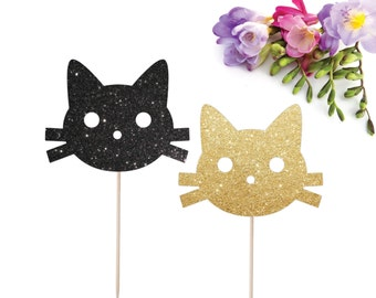 Cat Cake Topper, Kitty Cake Topper, Kitty Cat, Cat Birthday Party, Cat Party Decorations, Kitten Cake Topper, Cat Birthday Party, Smash Cake