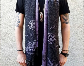 DIVINITY Collection // Festival Shawl/Scarf // Sacred Geometry // Eye of Horus // Third-eye Chakra // Unisex
