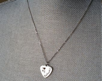 I Heart my Rottweiler, Charm, Necklace, Dog Lover, Rottweiler, Rottie, Dainty, Simple, Thank You, Gift, Stainless Steel, Christmas, Birthday