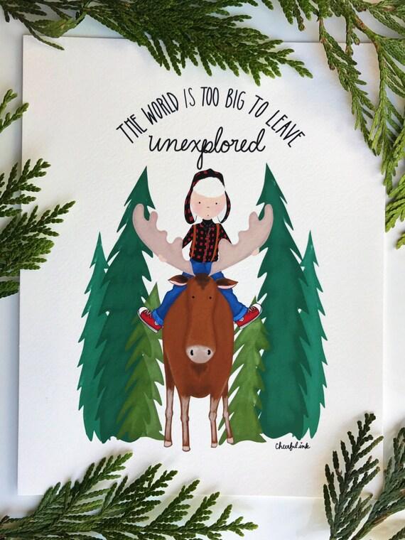 Moose Boy Print