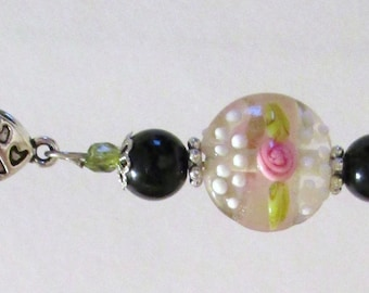 698 - CLEARANCE - Beaded Key Ring