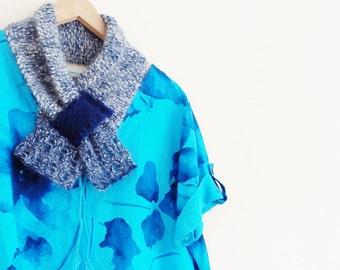 Ladies blue mohair scarf, Blue scarf, Mohair scarf, Blue mohair scarf, Pastel blue scarf, Blue collar, Blue cowl, Blue scarves, Collar 174