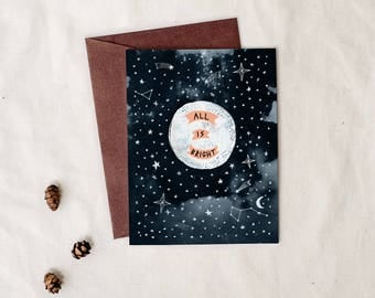 All Is Bright - Greeting Card
