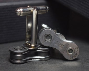 Shimano HG  bicycle chain cufflinks - gift boxed