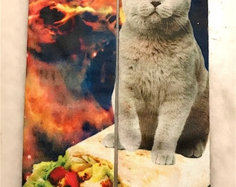 Burrito Cat | Space Cat | Birthday Gift | Sock Lover