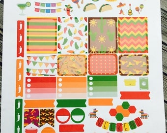 Fiesta Planner Stickers - Cinco De Mayo Stickers - for use with Erin Condren Stickers - Happy Planner Stickers