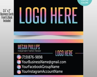 """Independent Fashion Retailer Business Card Marketing and Branding Materials Home Office Approved and Personalized 3.5"""" x 2"""""""