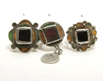 Three Soussi rings - Moroccan vintage jewellery - priced individually