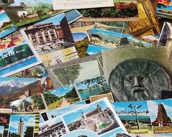 49, used and unused, vintage postcard lot