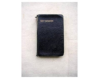 Vintage pocket bible New Testament British and Foreign Bible Society 1938 soft cover pocket version theology religion 123 (X)