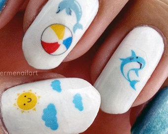 Beach Day - Water Slide Nail Decals