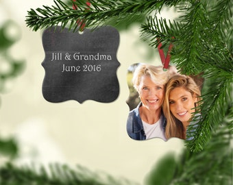 Personalized Photo Ornament - First Christmas Ornament, New Baby Ornament, Custom Photo Ornament, Personalized Holiday, Mother's Gift