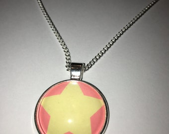 Steven Universe Inspired Glass Pendant