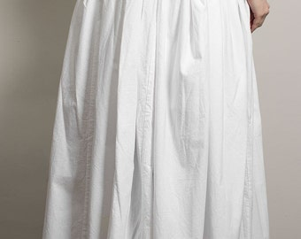 Custom made late 18th century cotton petticoat - Colonial Rococo Undergarments Historical Costume Reenactment underpinnings Marie Antoinette