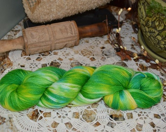 Hand Painted Sock Yarn Polwarth/Silk Blend