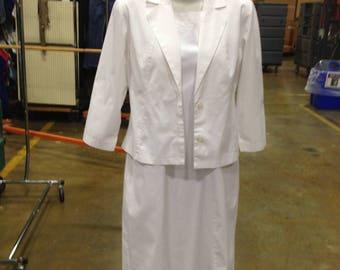 Vintage White Cross Nurses Uniform 2 Piece Dress Made In Canada White