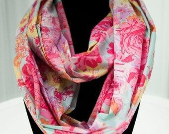 Colourful Floral Infinity Scarf